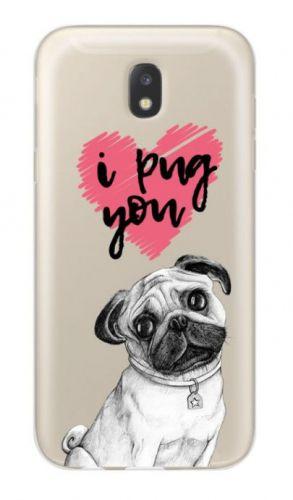 Protectie Spate Lemontti Art I Pug You LMSAJ530M34 pentru Samsung Galaxy J5 2017 (Multicolor)