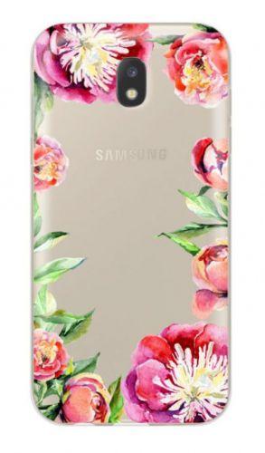 Protectie Spate Lemontti Art Flowers LMSAJ330M26 pentru Samsung Galaxy J3 2017 (Multicolor)