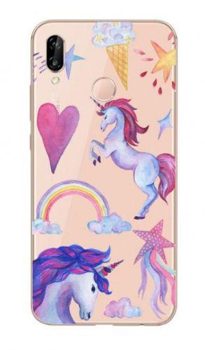 Protectie Spate Lemontti Art Unicorn LMSAP20LM31 pentru Huawei P20 Lite (Multicolor)