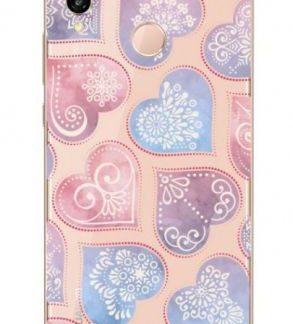Protectie Spate Lemontti Art Hearts LMSAP20LM27 pentru Huawei P20 Lite (Multicolor)