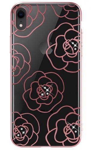 Protectie Spate Devia Camellia DVCCIP61RG pentru iPhone XR (Roz/Auriu)