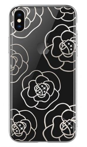 Protectie Spate Devia Camellia DVCCIP65SV pentru iPhone XS Max (Argintiu)