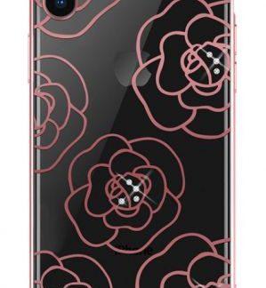 Protectie Spate Devia Camellia DVCCIP65RG pentru iPhone XS Max (Roz/Auriu)