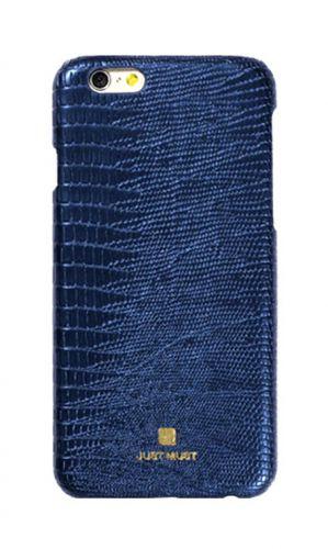Protectie Spate Just Must Croco JMCRIPH6NV pentru iPhone 6/6S (Albastru)