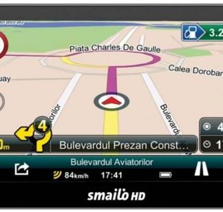 Sistem de navigatie Smailo HD 7 Full Eu LMU, Ecran 7inch TFT LCD, Procesor 800 MHz, Microsoft Windows CE 6.0, Actualizari pe viata a hartilor, Harta Europa