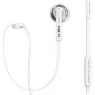 Casti Stereo Philips SHB5250WT, Bluetooth (Alb)