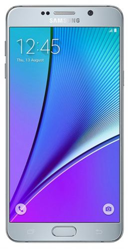 Telefon Mobil Samsung Galaxy Note 5 Duos N9208, Procesor Octa-Core 1.5GHz / 2.1GHz, Super Amoled Capacitive touchscreen 5.7inch, 4GB RAM, 32GB Flash, 16MP, Wi-Fi, 4G, Dual Sim, Android (Argintiu)