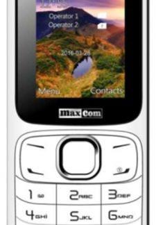 Telefon Mobil MaxCom MM129, VGA 1.8inch, Dual Sim, 2G (Alb)