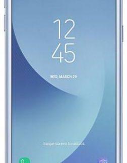 Telefon Mobil Samsung Galaxy J3 (2017), Procesor Quad-Core 1.4GHz, PLS TFT LCD 5inch, 2GB RAM, 16GB, 13MP, 4G, Wi-Fi, Dual Sim, Android (Silver Blue)
