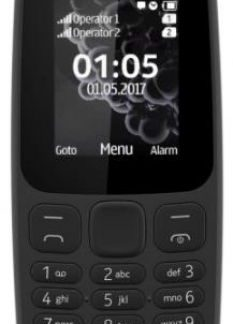 Telefon mobil Nokia 105 (2017), Dual Sim (Negru)