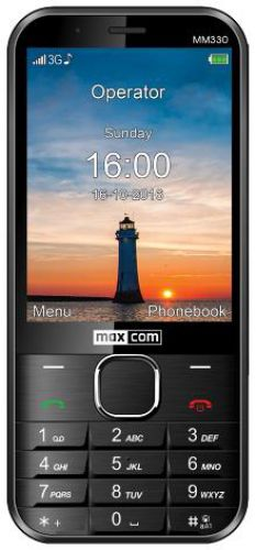 Telefon MaxCom Classic MM330, Display 3.2inch, 5MP, 3G, Single Sim (Negru)