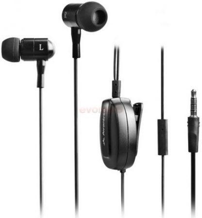 Casti stereo Avantree Beetle ADHF-TR505A-BLK, Microfon, Jack 3.5mm, cablu retractabil (Negru)