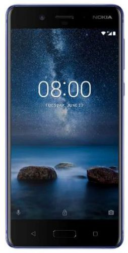 Telefon Mobil Nokia 8, Procesor Octa-Core 2.5 / 1.8GHz, IPS LCD Capacitive touchscreen 5.3inch, 4GB RAM, 64GB Flash, Dual 13MP, Wi-Fi, 4G, Dual Sim, Android (Albastru)