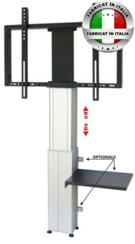 Stand TV electric OMB Wall Column, 46inch - 90inch, 150 Kg (Argintiu)