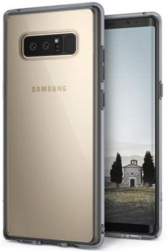 Protectie spate Ringke Fusion Smoke Black pentru Samsung Galaxy Note 8 (Transparent/Negru)