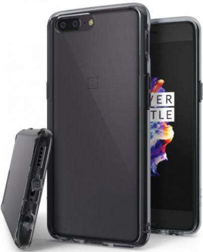 Protectie spate Ringke Fusion Smoke Black pentru OnePlus 5 (Transparent)