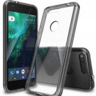 Protectie spate Ringke Fusion Smoke Black pentru Google Pixel XL (Transparent)
