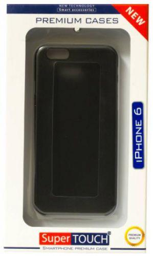 Husa Protectie Spate Super Touch pentru Apple iPhone 6/6S (Neagra)