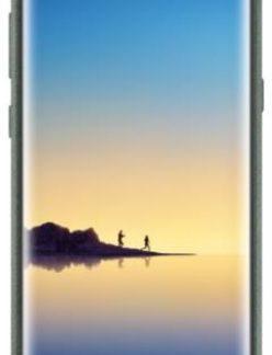 Protectie spate Samsung EF-XN950AKEGWW Alcantara pentru Samsung Galaxy Note 8 (Verde)