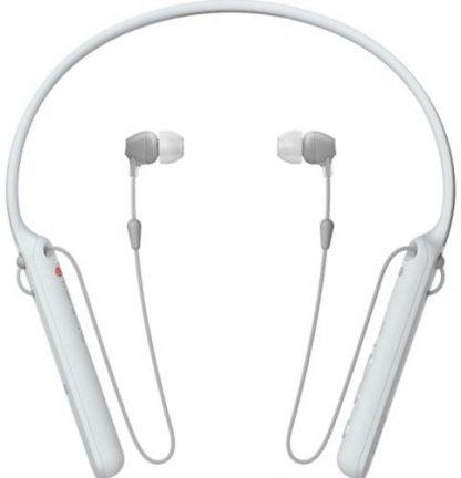 Casti Stereo Sony WIC-400W, Bluetooth, NFC, Wireless, Microfon (Alb)