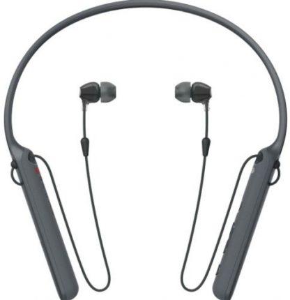 Casti Stereo Sony WIC-400B, Bluetooth, NFC, Wireless, Microfon (Negru)