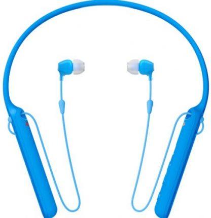 Casti Stereo Sony WIC-400L, Bluetooth, NFC, Wireless, Microfon (Albastru)