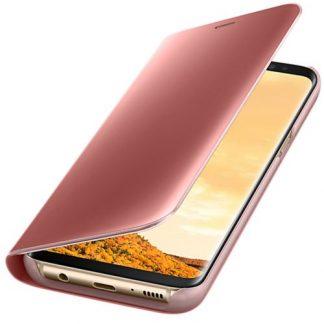 Husa Clear View Cover Samsung EF-ZG950CPEGWW pentru Samsung Galaxy S8 (Roz)