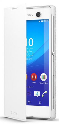 Husa Flip Cover Sony SCR48 pentru Sony Xperia M5 (Alb)