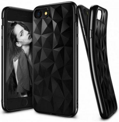 Husa Telefon Ringke Prism 011568, folie protectie inclusa, pentru iPhone 7 (Negru)