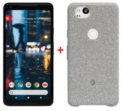Telefon Mobil Google Pixel 2 XL, Procesor Snapdragon 835, Octa-Core 2.35GHz / 1.9GHz, P-OLED Capacitive touchscreen 6inch, 4GB RAM, 64GB Flash, 12.3MP, Wi-Fi, 4G, Android (Negru)
