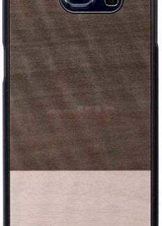 Protectie Spate Man&Wood Einstein pentru Samsung Galaxy S6 (Maro)