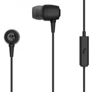 Casti Stereo Motorola Ear Buds, Microfon, Rezistente la apa (Negru)