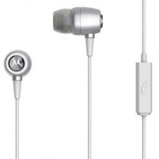 Casti Stereo Motorola Ear Buds, Microfon, Rezistente la apa (Argintiu)