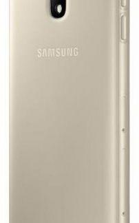 Protectie Spate Samsung Jelly Cover EF-AJ330TFEGWW pentru Samsung Galaxy J3 2017 (Auriu)