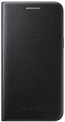 Husa Samsung Flip Case EF-FJ100BBEGWW pentru Samsung Galaxy J1 (Negru)