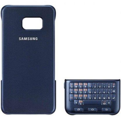 Husa Protectie spate + tastatura Samsung QWERTZ EJ-CG928MBEGDE pentru Galaxy S6 Edge Plus (Negru)