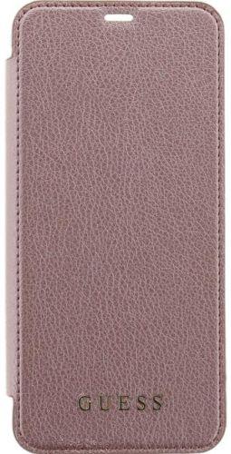 Husa Book Cover GUESS GUFLBKS8IGLTRG pentru SAMSUNG Galaxy S8 (Roz)