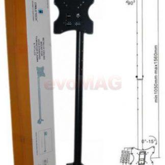 Suport Tavan Cabletech UCH0076A, 10inch - 37inch, 30Kg (Negru)