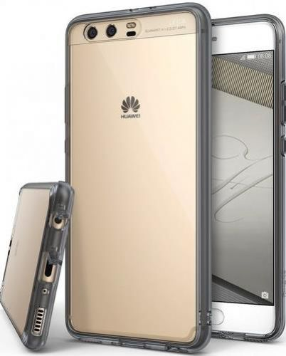 Husa Ringke Fusion Smoke Black pentru Huawei P10 Plus + BONUS folie protectie display Ringke (Transparent)
