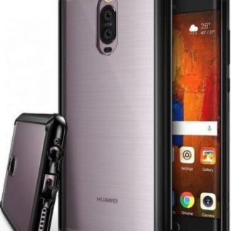 Protectie Spate Ringke Fusion Ink Black pentru Huawei Mate 9 Pro (Transparent)