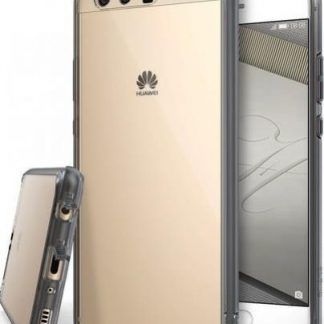 Husa Protectie Spate Ringke Fusion Smoke Black pentru Huawei P10 + BONUS folie protectie display Ringke (Gri Transparent)
