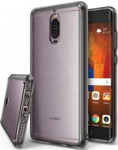 Protectie Spate Ringke Fusion Smoke Black pentru Huawei Mate 9 Pro (Transparent)