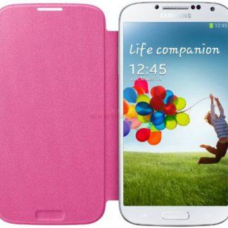 Husa tip Flip Samsung EF-FI950BPEGWW pentru Galaxy S4 i9505/i9500 (Roz)