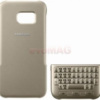 Husa Keyboard Cover Samsung EJ-CG930, Querty, pentru Samsung Galaxy S7 (Auriu)
