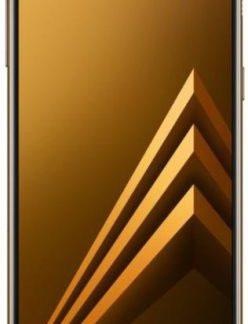 Telefon mobil Samsung Galaxy A8 (2018), Procesor Octa-Core 1.6GHz/2.2GHz, Super AMOLED 5.6inch, 4GB RAM, 32GB Flash, 16MP, Wi-Fi, 4G, Dual Sim, Android (Auriu)