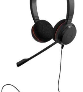 Casti stereo Jabra Evolve 20 UC, USB (Negru)