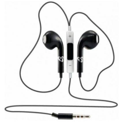 Casti Stereo SBOX IEP-204B, Microfon (Negru)