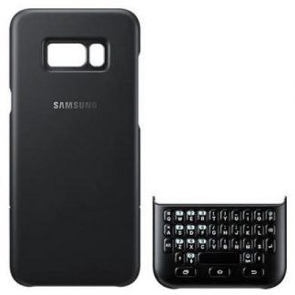 Husa Protectie Spate + Tastatura Samsung Keyboard Cover QWERTY EJ-CG955BBEGWW pentru Samsung Galaxy S8 Plus G955F (Negru)
