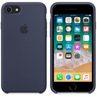 Protectie spate Apple MQGM2ZM/A Silicone pentru iPhone 7/8 (Midnight Blue)