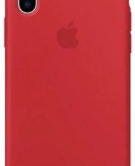 Protectie Spate Apple Silicone MQT52ZM/A pentru Apple iPhone X (Rosu)
